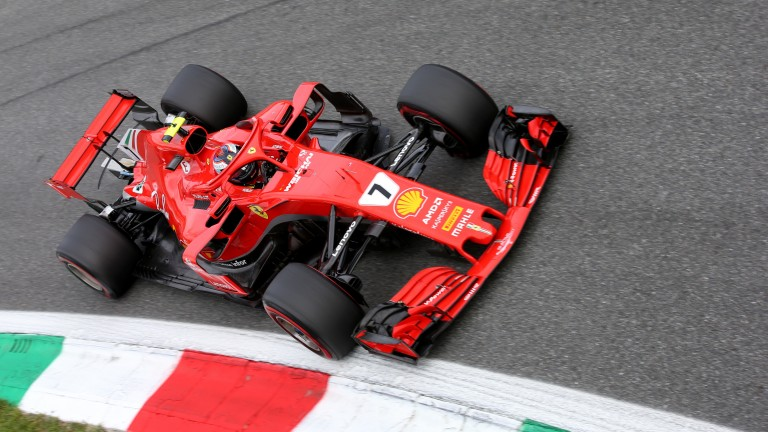 Kimi Raikkonen led most of the race in Italy