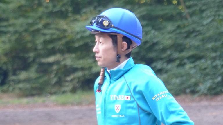 Yutaka Take was on the gallop to work Japan's Arc hopeful Clincher ahead of the Prix Foy