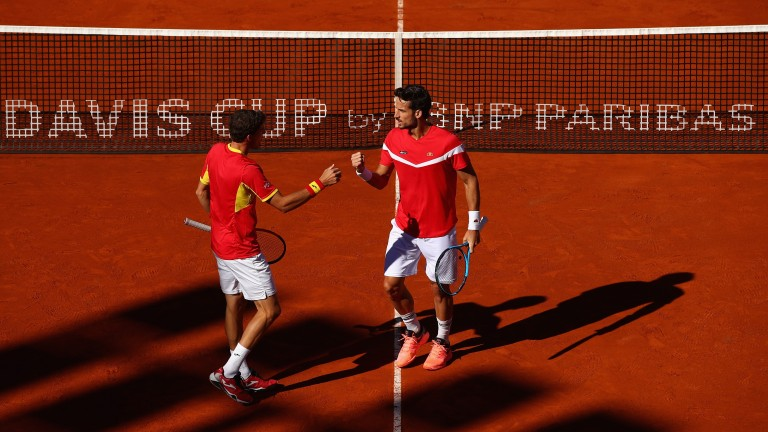 Spain are in with a shout of reaching the Davis Cup final