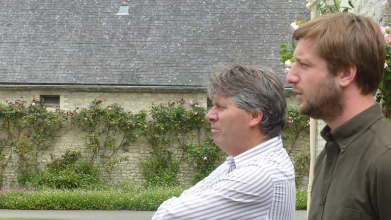 Nicolas de Chambure (right): re-establishing links between Normandy and Kentucky