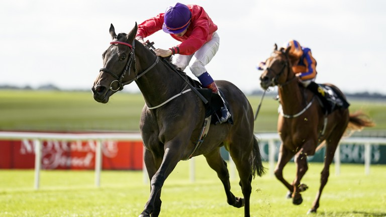 Skitter Scatter and Ronan Whelan land the Moyglare Stud Stakes