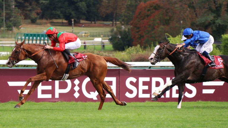 Waldgiest and Pierre-Charles Boudot run out comfortable winners of the Prix Foy at Longchamp