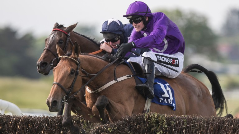 Pleasure Dome and Danny Mullins on the way to victory at Tramore