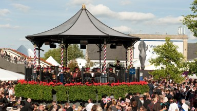 The Ascot bandstand: good for a sing-song after racing during the royal meeting
