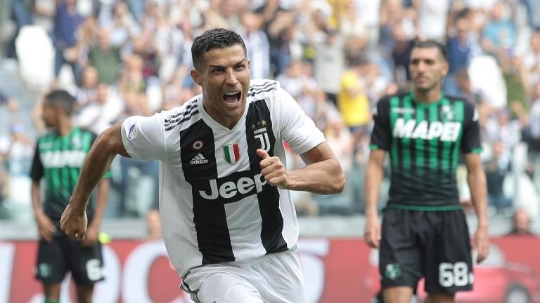 Cristiano Ronaldo celebrates a goal for Juventus