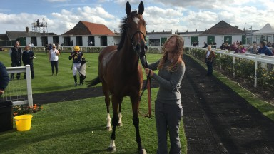Sheikha Reika poses for the camera after her impressive Yarmouth win