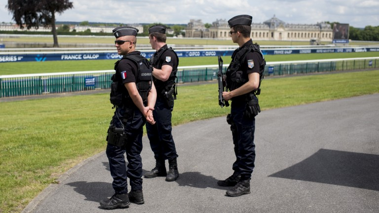 Police are a common sight at major French race meetings but the gaming and racing division leading the investigation into Cherel are charged with a different kind of public protection