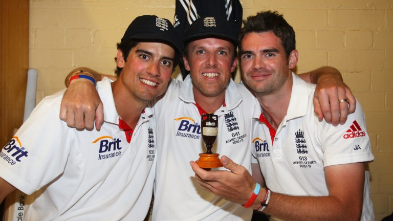Will Graeme Swann (centre) add the Strictly glitterball to his trophy collection?
