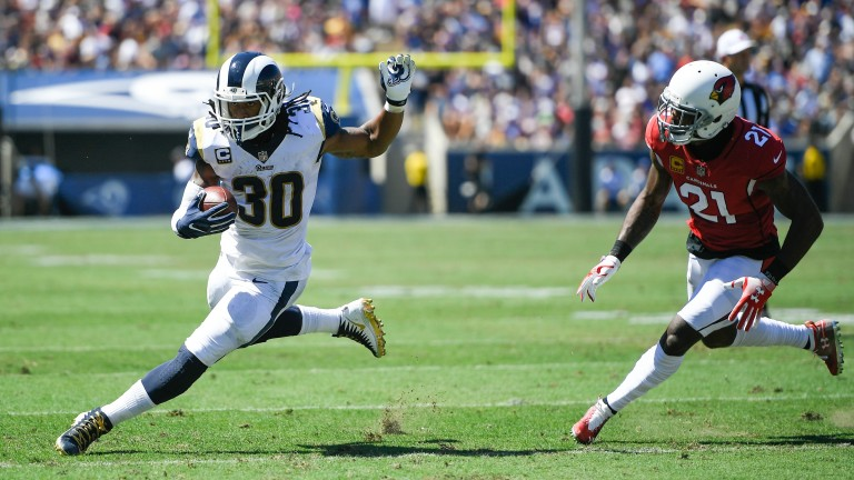 Running back Todd Gurley has been a star turn for the Los Angeles Rams