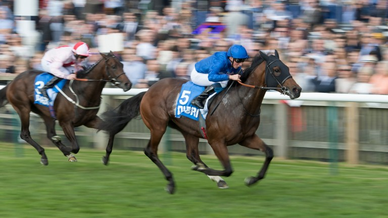 Ghaiyyath: winning the Autumn Stakes at Newmarket last October