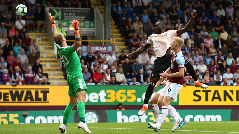 Romelu Lukaku scores Manchester United's opener at Burnley