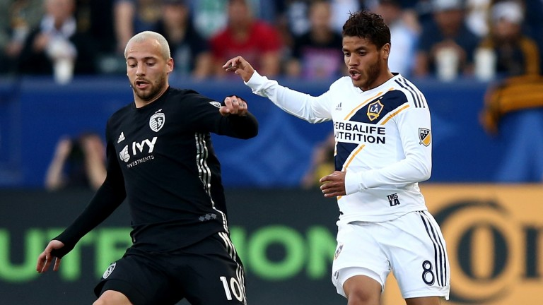 Sporting Kansas City's Yohan Croizet (left) is a dangerous attacking outlet