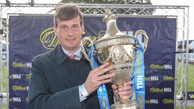 Paul Cole was at home in Oxfordshire but Fozzy Stack was able to get his hands on the Ayr Gold Cup