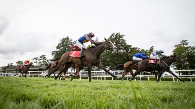 Broadway (near side) and Seamie Heffernan land the feature Group 3 at Gowran Park