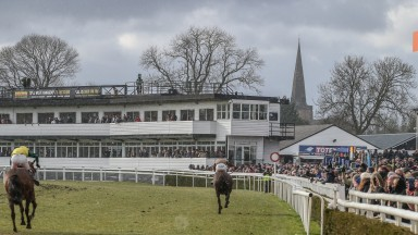 Uttoxeter racecourse, one of three tracks in Britain racing today