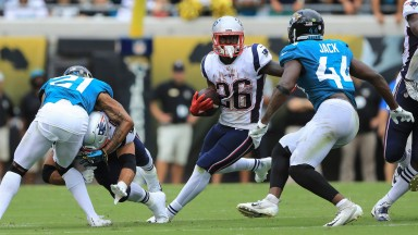 Sony Michel on the move for New England against Jacksonville