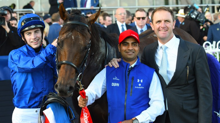 James Doyle and Charlie Appleby celebrate Group 1 success with Jungle Cat