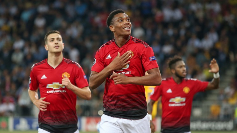Anthony Martial scored against Young Boys