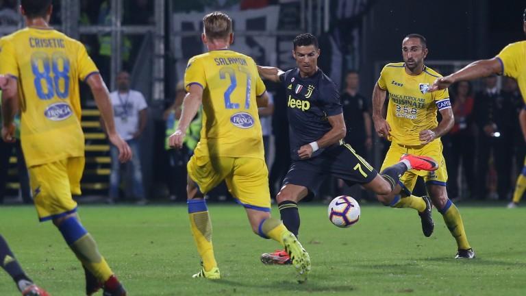 Cristiano Ronaldo of Juventus scores against Frosinone