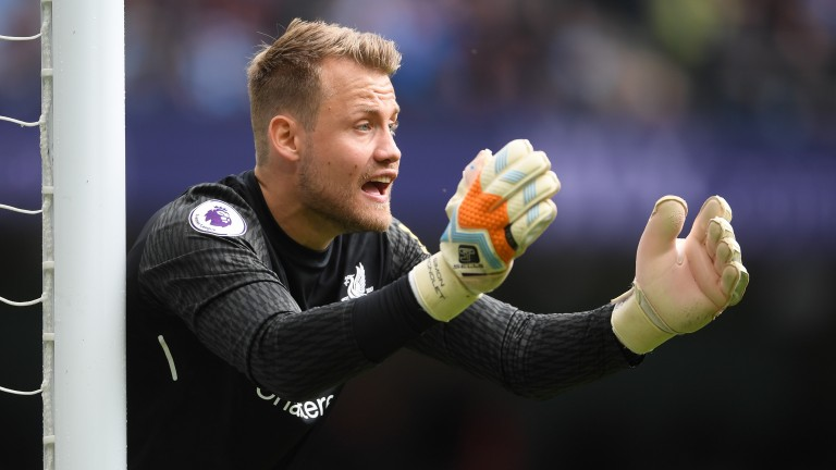 Simon Mignolet gets a rare start in goal for Liverpool