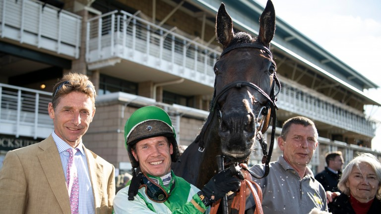 Connections of He's A Goer celebrate with Richard Johnson