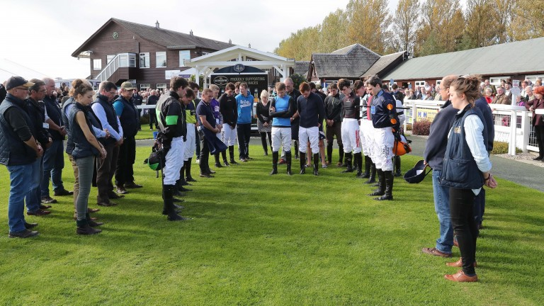 A minute's silence was held in the parade ring at Peth yesterday for former general manager Sam Morshead, who passed away on Tuesday