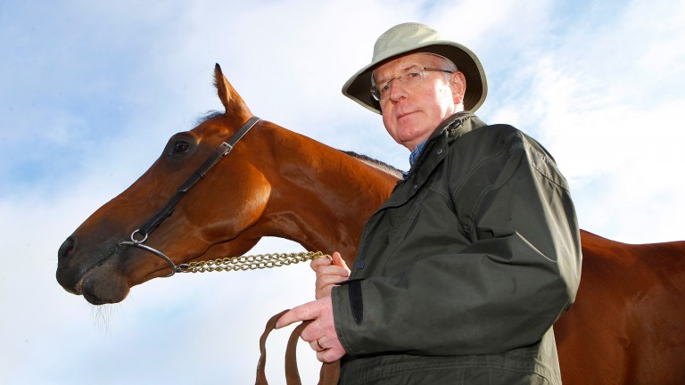 Born To Sea with his trainer John Oxx