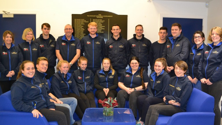 Students for the inaugural E2SE course with those on National Stud apprenticeships