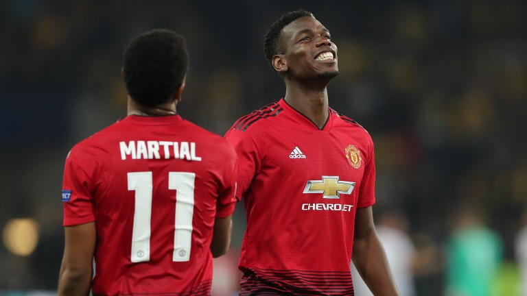 Paul Pogba and Anthony Martial of Manchester United