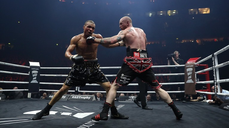 George Groves and Chris Eubank exchange blows
