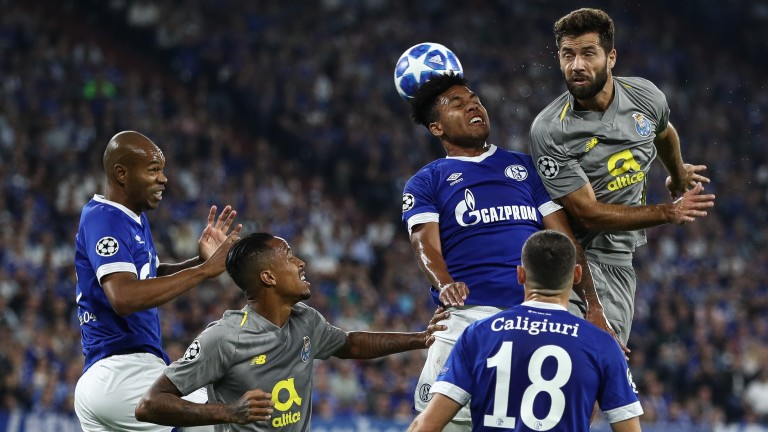 Porto (grey) in Champions League action against Schalke