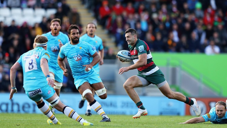 England wing Jonny May returns the Leicester lineup
