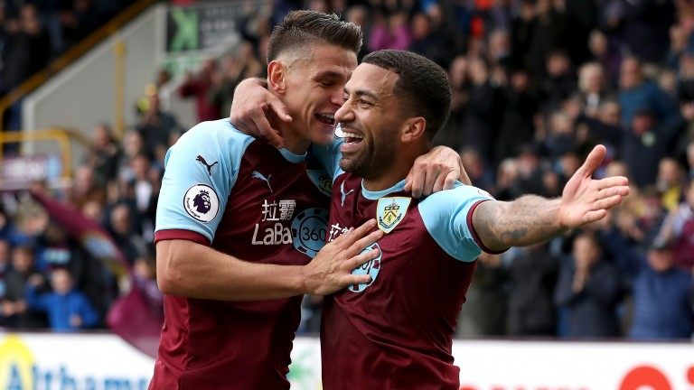 Burnley winger Aaron Lennon (right) has rediscovered his form