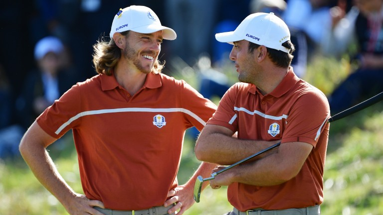 Tommy Fleetwood and Francesco Molinari are all smiles