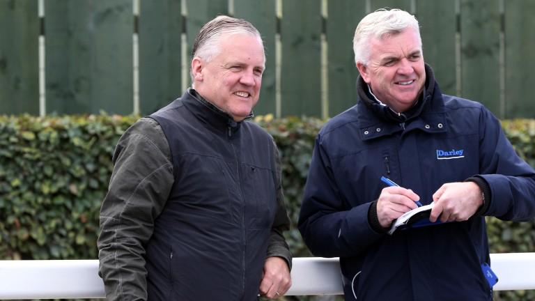 Boys in blue: Joe Osborne and Jimmy Hyland of Darley