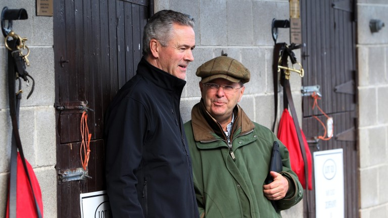 Goffs chief executive Henry Beeby (left) with renowned bloodstock agent Grant Pritchard-Gordon