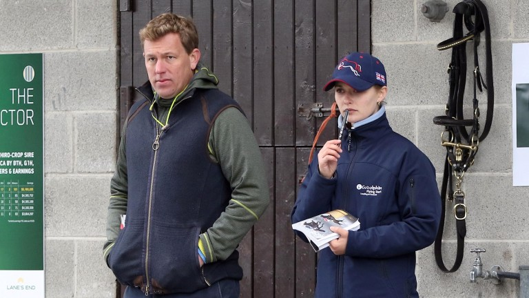 Blandford Bloodstock agent Richard Brown and Godolphin Flying Start trainee Isabella Paul