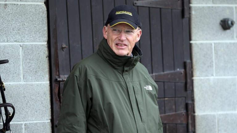 John Gosden sports a Nathaniel cap in the week that he prepares that stallion's daughter Enable for her repeat Arc bid