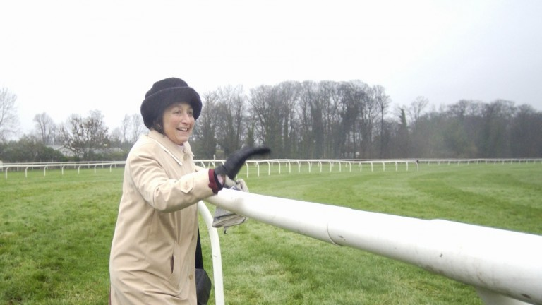Henrietta Knight can't contain her excitement as Edredon Bleu wins the King George