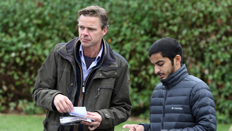 Anthony Rogers (left) in action at Goffs this week
