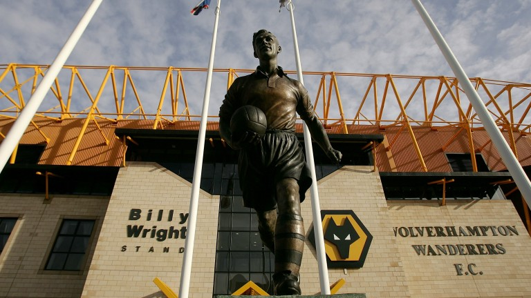 The statue of Sir Billy Wright outside Molineux