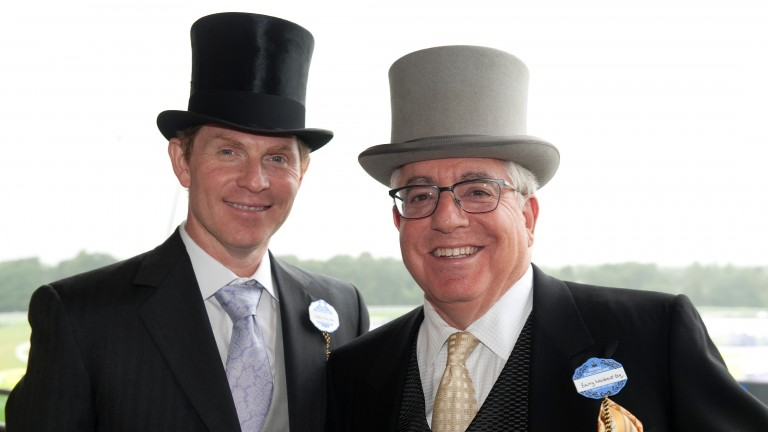 Bobby Flay (left) with Barry Weisbord at Royal Ascot