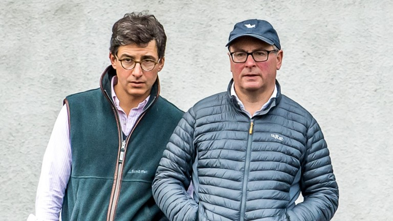 Federico Barberini (left) and Joe Foley closely study the stock on offer