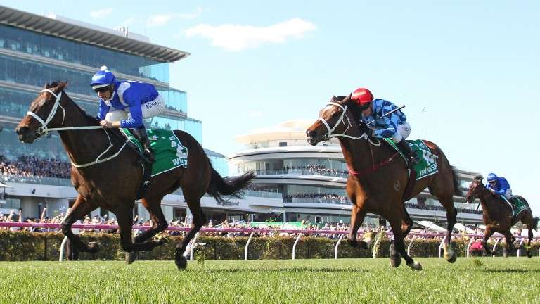 Winx and Hugh Bowman strike late in the Turnbull Stakes