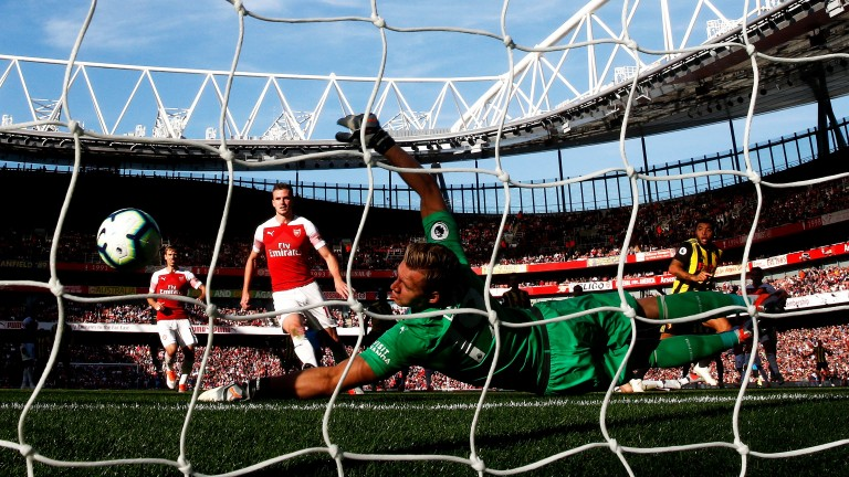 Arsenal keeper Bernd Leno had to be alert to keep a clean sheet against Watford