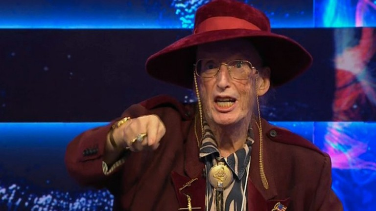 John McCririck during his TV appearance on Thursday