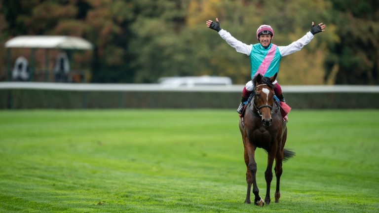 Enable and Frankie Dettori after their second Arc success in 2018