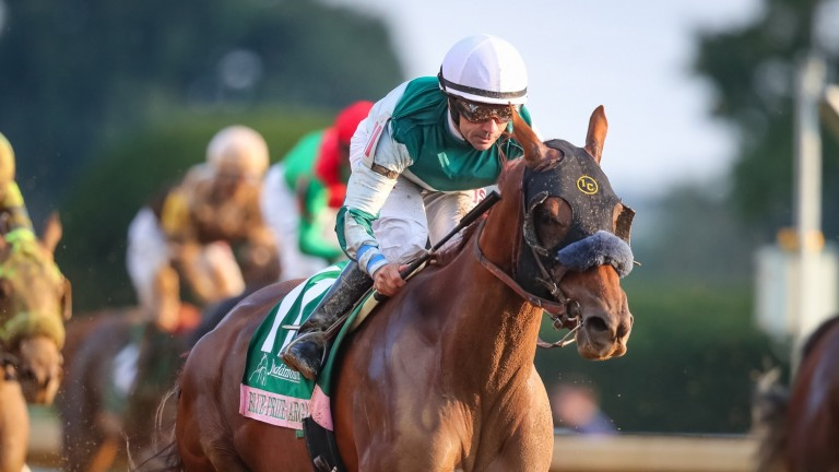 Blue Prize: first success Grade 1 success in North America in the Spinster Stakes