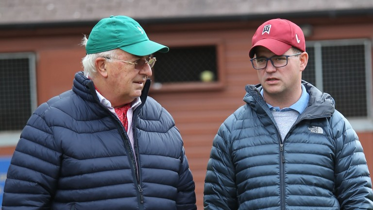 John Magnier and son MV spearheaded the Coolmore inspections team