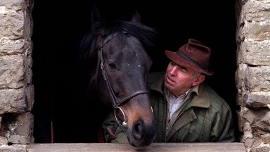 John Manners trainer with Cavalero at Highworth in Wilts 30th March 2000 Mirrorpix